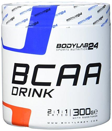 Bodylab24 BCAA Drink 300g | Aminosäuren Pulver | Leucin, Isoleucin und Valin im Verhältnis 2:1:1 | hochdosiertes BCAA Pulver zum Muskelaufbau | Orange