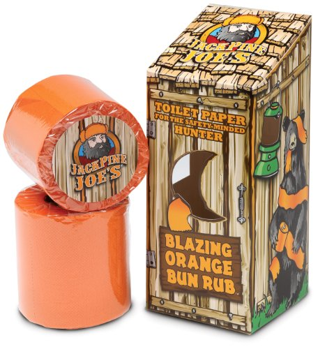 Jack Pine Joe's - Bun Rub - BR-OT -Blaze Orange Toilet Paper - Hunting...