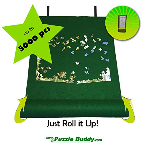 Jigsaw Puzzle Roll Up Felt Mat | Securely...