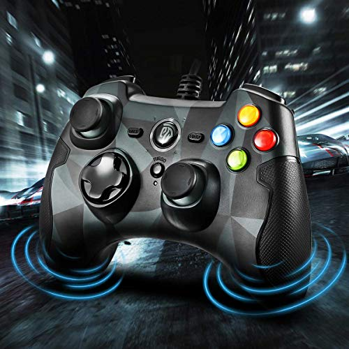 EasySMX PC Gamepad, Wired Game Controller, Dual Shock für Windows / PS3 / Android TV Box