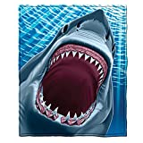 Dawhud Direct Great White Shark Super Soft Plush Fleece Throw Blanket