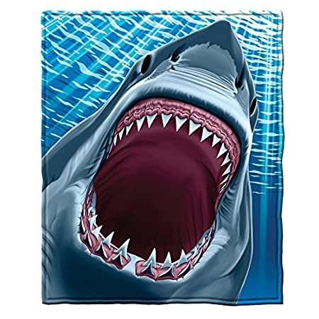 Great White Shark Super Soft Plush Fleece Throw Blanket