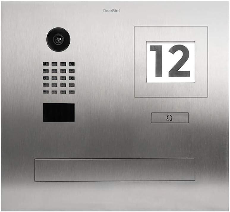 DoorBird D2101FPBI Briefkasten mit IP Türsprechanlage mit RFID-Scanner - Briefkasten Türsprechanlage