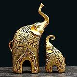 Dos Elefantes Conjunto de 2,Estatua de Elefante,Perfecto para Regalo para Decoración de Tienda Hogar, Adornos para Salon Modernos,Elefantes Decoracion Figuras