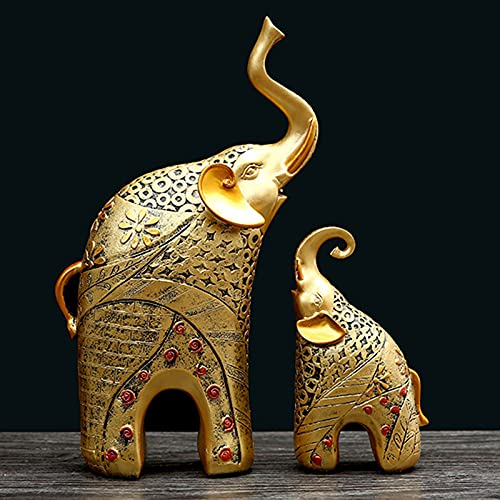 Dos Elefantes Conjunto de 2,Estatua de Elefante,Perfecto para Regalo para Decoración de...
