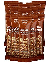 Wickedly Prime Granola Bar, Cocoa Peanut, Gluten Free, Kosher, 1.2 Ounce (Pack of 15)
