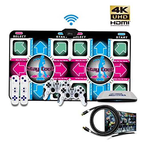 Tanzmatte Qualität 4K HD Intelligent Doppel Wireless Home Somatosensory Spiele Yoga Matten Unterstützen 4 Spieler Gewinnspiel 16G Speicherkarte (Color : Gray, Size : 15MM)