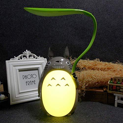 GGJC LED Nachtlicht Totoro Anime Kinder-Charakter-Lampe, USB Aufladung, Schreibtisch-Nachttisch-Leselampe (Yellowbelly)