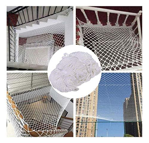HJRD Balcony Net, Child Safety Net, Climbing Net, Cat Net, Stair Anti-fall Net, Garden Fence Net, Cargo Net, Hanging Net, Construction Net, Nylon Net, White