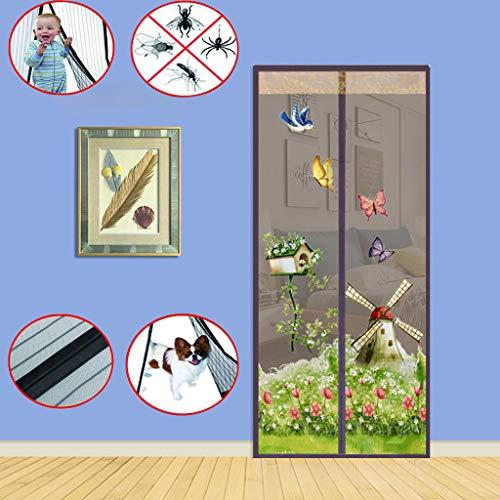 JXILY Fliegengittertüren,Fliegengittertüren Insektenschutz Fliegengitter Tür Insektenschutz Magnetvorhang für Türen Fliegengitter Fliegenschutzvorhang, ohne Bohren,W90*H210cm