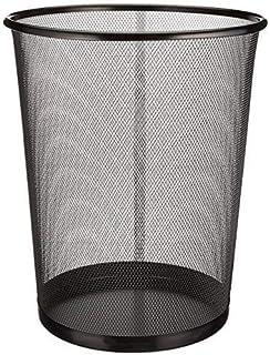 EUROXANTY® Corbeille à papier | Poubelle en acier inoxydable | Boîte à ordures de bureau | Grille métallique | 27 x 24 cm...