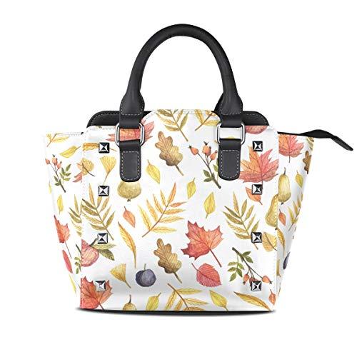 FANTAZIO coach handtassen Minimalistische Herfst Bladeren Vruchten Schilderen voor feest/Winkelen