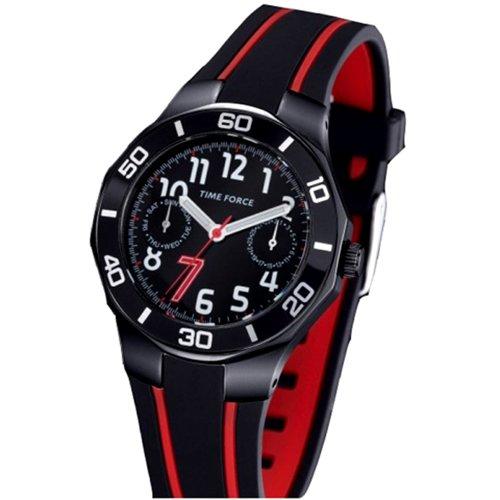 TIME FORCE TF3385B14 - Orologio da polso, cinturino in caucciù colore nero