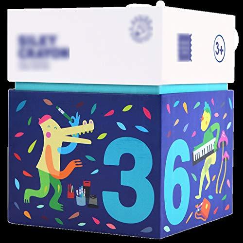 LJMG Buntstifte, wasserlöslich, waschbar, für Kinder, 24 Farben, 36 Farben, Paraffin, mehrfarbig, 13*11*11cm