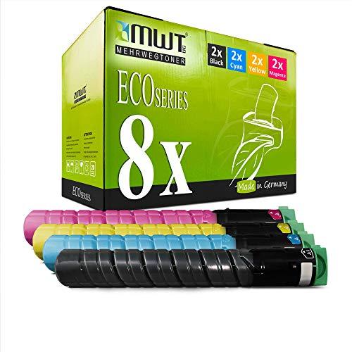 8X MWT Toner für Ricoh Aficio MP C 2051 2551 wie 842061-842064 TYPE-MPC2551 TYPEMPC2551 Set