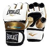 Everlast everst Correpasillos Entrenamiento Gloves, Color White/Gold, tamaño Medium/Large