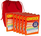 QWIXX 6 Replacement Score Pad Packs - 1,200 Score Sheets || Bonus Red Velvet Drawstring Pouch || Bundled Items
