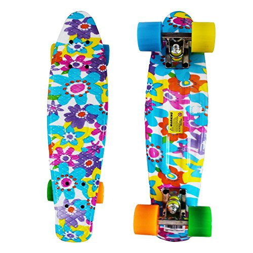 Product Image of the RIMABLE Complete 22 Inches Skateboard (Flower)