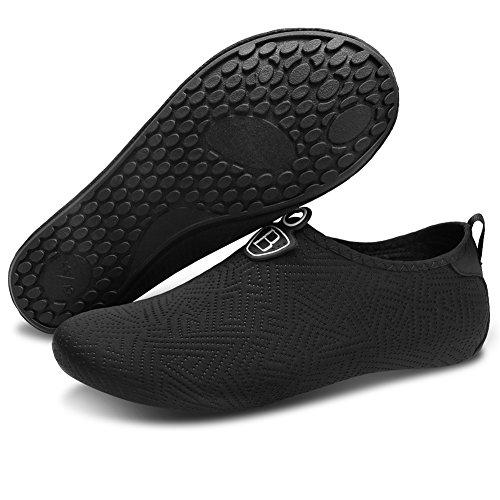 Barerun Barefoot Quick-Dry Water Sports Shoes Aqua Socks for Swim Beach Pool Surf Yoga for Women Men 10-11 US Men …