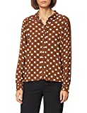 Noa Dotted Moss Blouse,Long Sleeve Blusa, Estampado marrón, 38 para Mujer