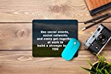 Mouse pad-ideal for gamers, graphic designers, or anyone who uses a mouse for long sessions High-quality cloth surface promotes smooth mouse gliding and enhanced precision Steady, thick, rubberized base keeps mouse pad in place Premium soft material ...