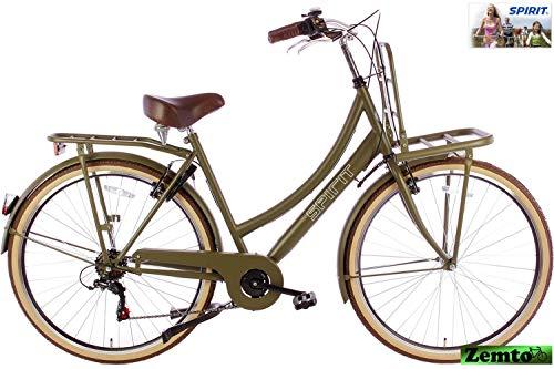 Spirit Damenrad Transporter 6 Gang Mattgrau 28 Zoll 53 cm