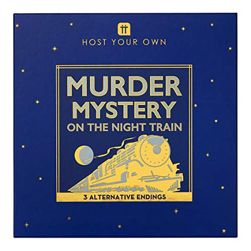 Talking Tables Reusable Murder Mystery on The Train Kit | Host Your Own Games Night | Orient Express 1930s Themed 3 Alternative Endings | Fancy Dress Up Fun | Adults, Dinner Party