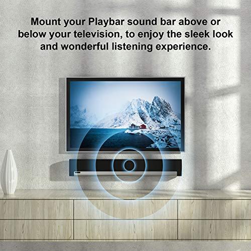 Wall Mount for Sonos Playbar Mounting Bracket Compatible with Sonos Playbar Soundbar TV Mount