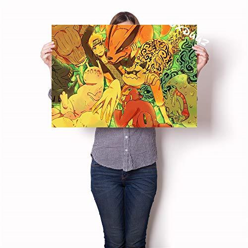 YIYEBAOFU DIY Pintar por números Altamente calificado Popular japonés Anime Familia Pared decoración Pintura Cartel Naruto Tokyo Ghoul Perro Yasha Lienzo pintura40x50cm(Sin Marco)
