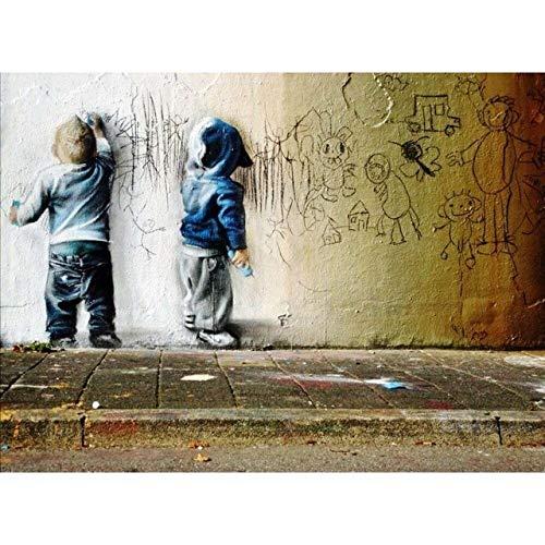 Graffiti canvas print op doek voor abstracte wanddecoratie poster en druk