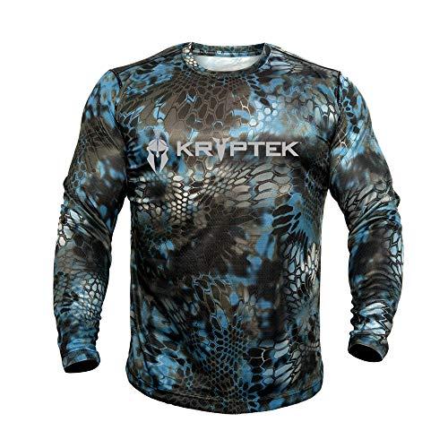 Kryptek Vêtement de Chasse Hyperion Crew à Manches Longues, Neptune, Taille M