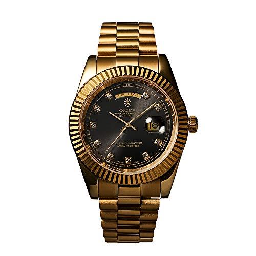 [OMEX] オメックス ワンナイト ゴールド×ブラック OMEX ONE-NIGHT omeco クォーツ 腕時計 日本製 ムーブメント オマージュウォッチ