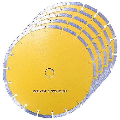 WEIMALL 【5枚セット】ダイヤモンドカッター 230mm 替刃 替え刃 DC230