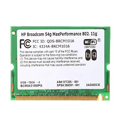 JAGETRADE Broadcom 54G MaxPerformance 802.11g BCM94318 Mini-PCI Wifi Wirelssカードの場合