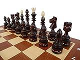 Master of Chess New Indian Pro 54cm / 21in Juego de ajedrez de Madera Tablero de ajedrez y Piezas de ajedrez Grandes con Incrustaciones bellamente Hechos a Mano ...