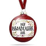 NEONBLOND クリスマスデコレーション ハッピーフローラルボーダー ブロードキャスターオーナメント