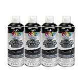 Bulk buy: Tulip ColorShot Outdoor Upholstery Spray Paint 8 oz. 4-pack, Onyx