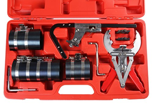 Piston Ring Service Tool Set, Piston Ring Set and Piston Ring Remover Tool for Groove Cleaner