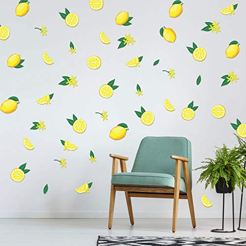 Calcomanías de Pared de Limón Pegatina de Pared de Limonada Decoración de Pared para Salón Dormitorio Arte de Pared de Impresión de Frutas para Oficina Cocina