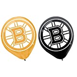 'Boston Bruins Collection' Printed Latex Balloons, Party Decoration