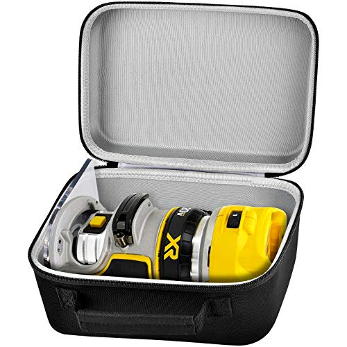 Case Compatible with DEWALT 20V Max XR Cordless Router, Brushless (DCW600B), Portable Carrying Storage Bag with Mesh Pocket for DEWALT Tools Accessories - Black (Box Only)