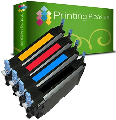 4 (FULL SET) Compatible Toner Cartridges for Dell C3760N C3760DN C3760CN C3765DN C3765DNF - Black/Cyan/Magenta/Yellow, High Yield