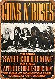 NOT Guns n'Roses Blechschild Plaque Vintage Retro Eisen