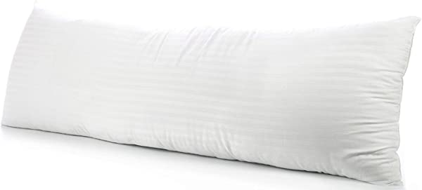 Body Pillowcase 21x60 Pillow Cover 100 Pure Egyptian Cotton Soft Heavy Quality 2 Pieces Pillowcase Genuine 500 Thread Count Zipper Body Pillow Cover Fits 20 X 54 Pillow White Stripe