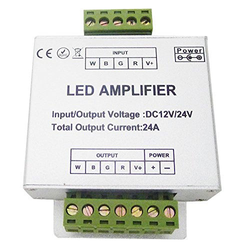 LEDENET RGBW Amplifier 24A Data Signal Repeater 4CH Channels Circuit Aluminum Shell For RGBWW LED Lights Strip 12V 24V