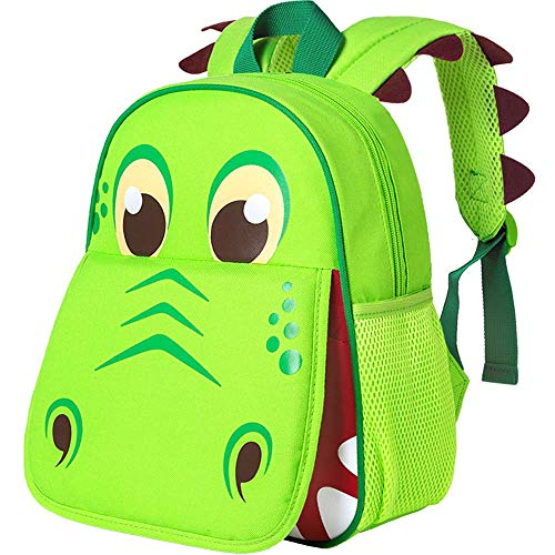 Toddler Backpack, 12' Dinosaur Prechool Bag for Boys Girls