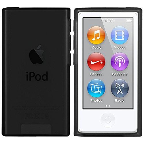 moodie Silikonhülle für iPod Nano 7G Hülle in Schwarz - Case Schutzhülle Tasche für Apple iPod Nano 7 Generation - 2015 Version
