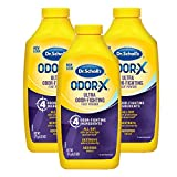 Dr. Scholl's Odor-Fighting X Foot Powder, Yellow, 6.25 Ounce (Pack of 3)