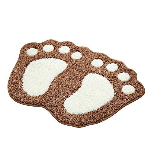 Shanna Alfombrilla Antideslizante para baño Ducha, Alfombra para el Suelo, Alfombra para salón, sofá, cojín para pies Absorbente, marrón, 40 x 60 cm