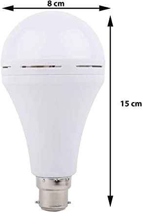 Gesto 9W Inverter Rechargeable Base LED B-22 Ceramic Emergency Bulb.Light on by Fingers. Up to 5 hrs Backup,Cool Day Light,Pack of 1